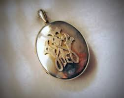 monogrammed locket oversized locket etsy