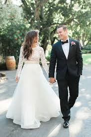 lace top wedding dress 34 sleeve wedding dresses for fall and winter weddings
