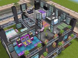 House Layouts by House 103 Party House Level 3 Sims Simsfreeplay Simshousedesign