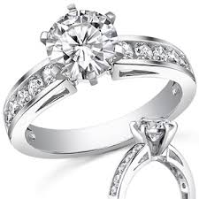 channel set engagement rings f1 moissanite channel set engagement ring 0 6ct 2 5mm