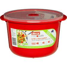 woolworths home decor decor microsafe rice cooker u0026 veg steamer 2 75l woolworths