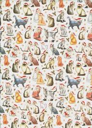 cat wrapping paper santa cats rolled christmas gift wrap paper cats christmas