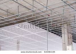 Drop Ceiling Installation by Suspended Ceiling Structure Installation Ceiling Gypsum Stock