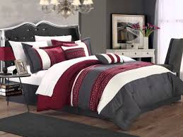 Red And Black Comforter Sets Full Your Zone Bright Chevron Bed In A Bag Bedding Set Walmart And