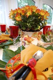 Fall Table Settings by A Colorful Autumn Table Setting