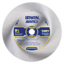 Saw Blade For Laminate Wood Flooring Shop Irwin Marathon 7 1 4 In 140 Tooth Continuous Carbon Circular