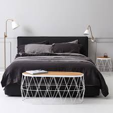 modern designer everything bed linen set storm black caviar flax