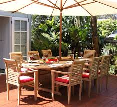 blaxland 9 piece teak oval extending outdoor setting
