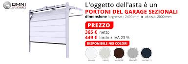 portoni sezionali prezzi garage portone sezionale prezzo basso 2200 x 2000 mm diversi