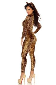 halloween lingerie women u0027s leopard bodysuit kitty kat costume for halloween