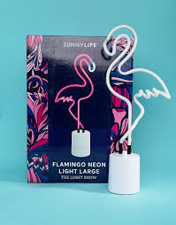 flamingo neon light sunnylife sunnylife sunnylife large flamingo neon light