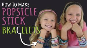 How To Make Popsicle Stick Bracelets U2013 Kids Crafts U2013 Diy Jewelry