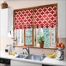 Walmart Kitchen Curtains Kitchen Cream And Gold Curtains Dark Red Curtains Kitchen Window