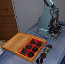 manual sheet metal punch for ironworker complete with 10 dies