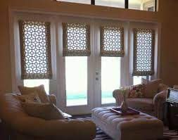 dinning dining room window curtains flat roman shades formal