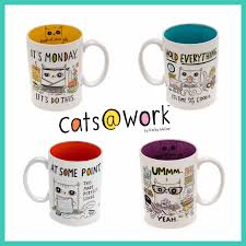 Pretty Mugs Enesco Cats Work Collection Mugs And Memo Cubes Available Now