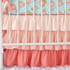 Bed Skirts For Cribs Coral Crib Skirts Pair Perfectly With Blue Coral Crib Bedding