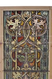 antique stained glass transom window vintage stained glass doors