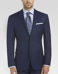 100 wool blue slim fit suit s suits joe by joseph abboud