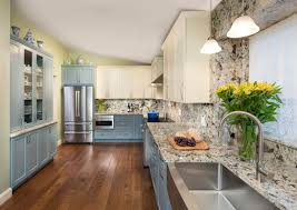 blue kitchen cabinets with granite countertops kitchen gallery blue and cabinets with granite counters