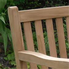 5ft 150cms chunky teak 3 seat garden park bench java garden