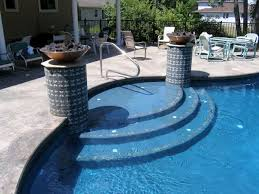 wedding cake pool steps plaster finishes hotshot pool finishes