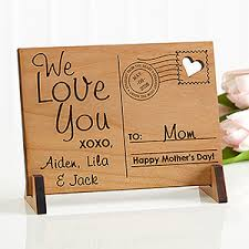 personalized wooden gifts sending to personalized wood postcard craft cards and