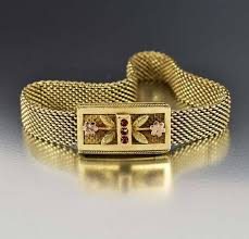 antique garnet bracelet images Antique rose gold mesh victorian garnet bracelet boylerpf jpg