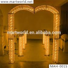 wedding arches and columns 2016 rgb led light wedding decoration wedding arch wedding