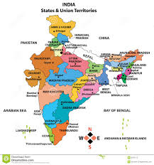 Map With State Names by Detailed Map Of India Royalty Free Stock Photo Image 9297115