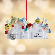 personalized family snowball fight christmas ornament walmart com