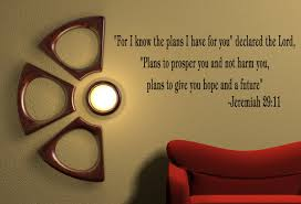 amazon com for i know the plans jeremiah 29 11 wall quote decal amazon com for i know the plans jeremiah 29 11 wall quote decal removable wall quotes decor home kitchen