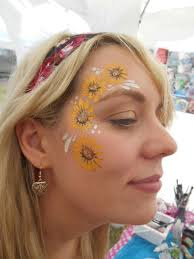 beautiful sunflower face painting