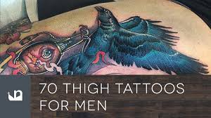 leg tattoo designs guys 70 thigh tattoos for men youtube