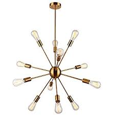 Sputnik Ceiling Light Sputnik Chandelier 12 Lights Brushed Brass Pendant