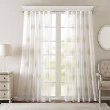 sheer window treatments bombay massa embroidered sheer window curtain panel free