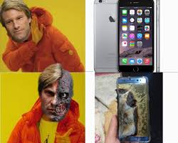 Galaxy Phone Meme - two face have problem with the use of cell galaxy note 7 samsung