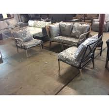 hampton bay granbury 6 piece metal outdoor sectional with fossil