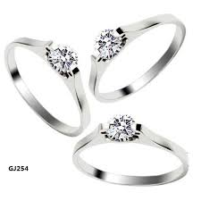 plastic wedding rings women rings silver simple cz zircon rings wedding rings engagement