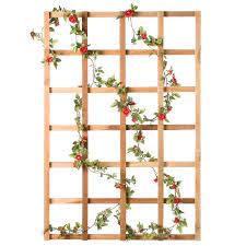 diamond teak wood wall trellis walmart com