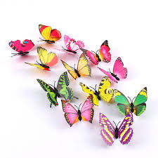 compare prices on butterflies wall mural online shopping buy low 12pcs 3d pvc magnet butterflies diy wall stickers home decor living room home decor wall mural