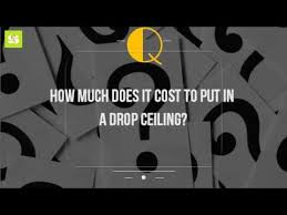 how much does it cost to put in a drop ceiling