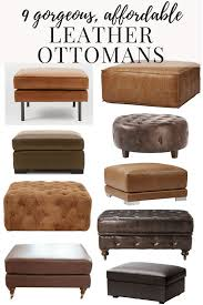 Leather Ottomans Affordable Modern Leather Ottomans Renovations