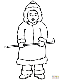 inuit boy coloring page free printable coloring pages
