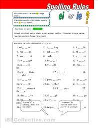 spelling rules ie and ei worksheet free esl printable