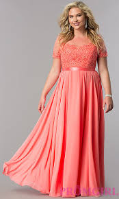 coral plus size bridesmaid dresses sheer bodice plus size formal dress promgirl