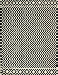 Black And White Zig Zag Rug Home Design Comfy Rugs Chevron Black Amp White Rug With 81 Cool