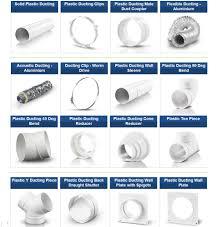 exhaust fan pipe size plastic 5 inch 125mm ducting pipe ventilation extractor fan bath