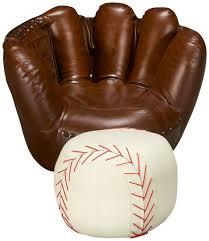 baseball chair and ottoman set baseball glove chair weliketheworld com