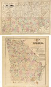Murray State Map by Important Civil War Era Maps Of Tennessee And Georgia With Unique